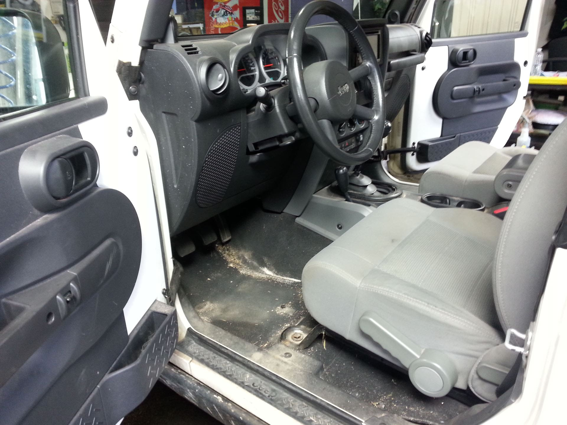Jeep Interior Detailing: Before