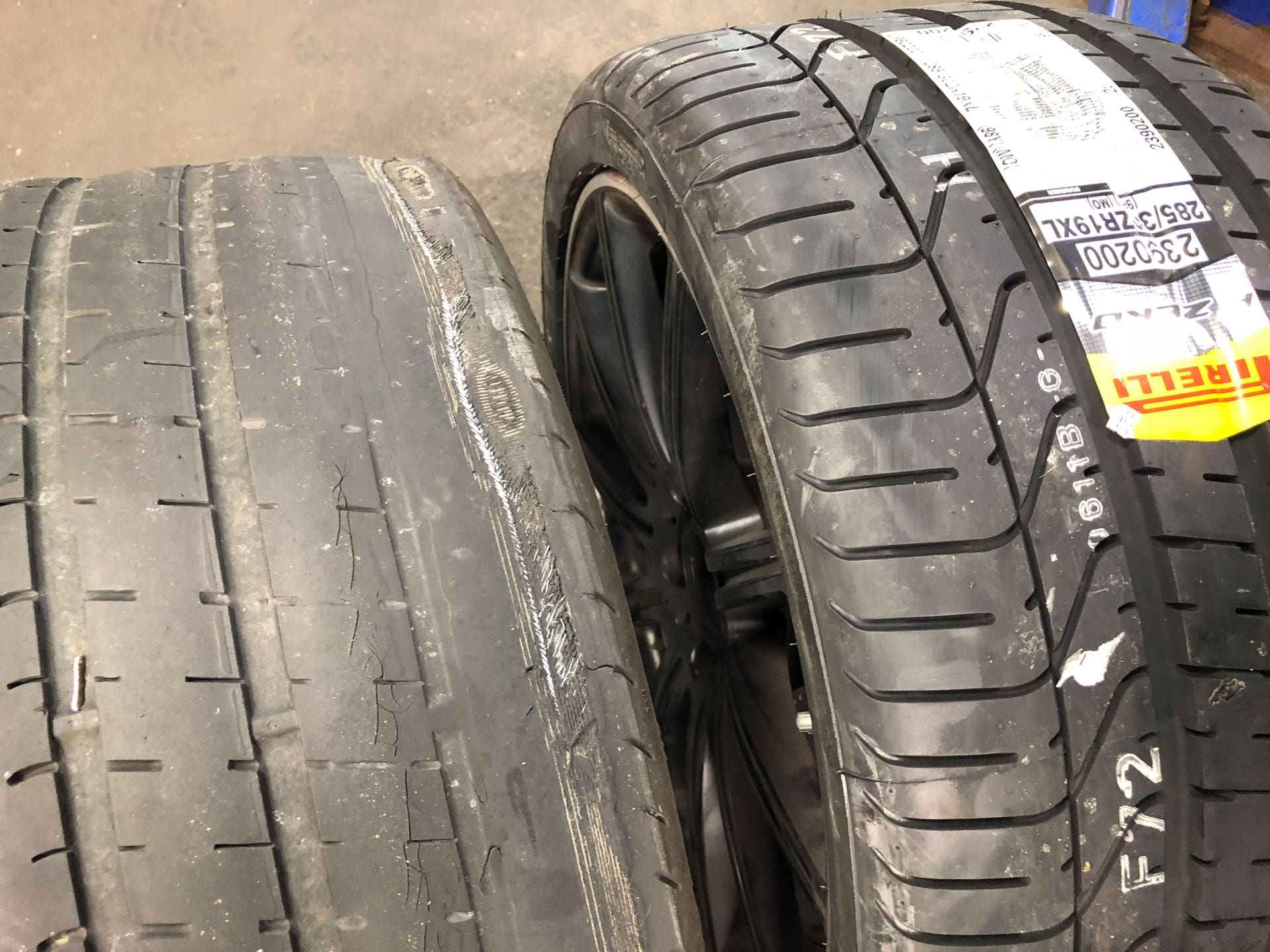Tire Replacement: Before and After