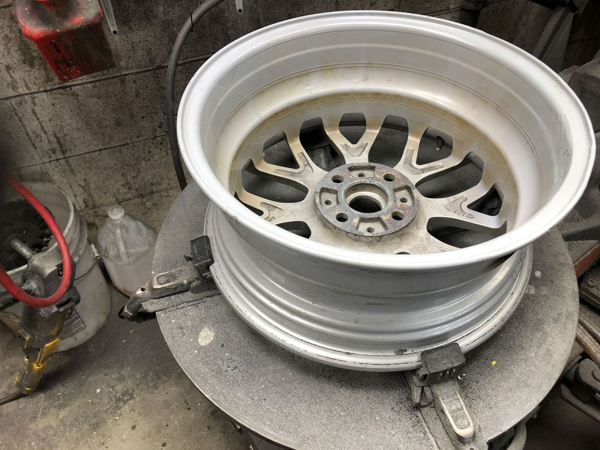 Bent Rim Repaired image